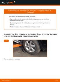 Como realizar a substituição de Ponteiras de Direcção no 2.2 D 4WD (ALA30_) Toyota RAV4 III