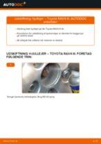 Hvordan skifter man og justere Hjullejesæt TOYOTA RAV4: pdf manual