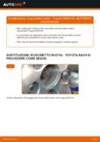 Come cambiare cuscinetto ruota della parte posteriore su Toyota RAV4 III - Guida alla sostituzione