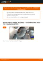How to change rear wheel bearing on Toyota RAV4 III – replacement guide