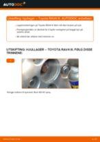 Skifte Hjullager TOYOTA RAV4: verkstedhåndbok