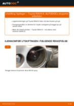 Bytte Hjullagersett bak og foran TOYOTA gjør-det-selv - manualer pdf på nett