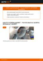 Automekaanikon suositukset TOYOTA Toyota RAV4 III 2.0 4WD (ACA30_) -auton Ilmansuodatin-osien vaihdosta