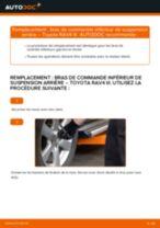 Comment changer : bras de commande inférieur de suspension arrière sur Toyota RAV4 III - Guide de remplacement