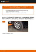 Cómo cambiar y ajustar Cable de accionamiento freno de estacionamiento TOYOTA RAV4: tutorial pdf