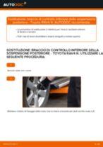 Come cambiare braccio di controllo inferiore della sospensione posteriore su Toyota RAV4 III - Guida alla sostituzione