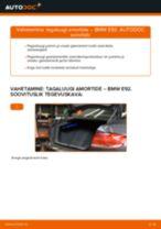 Kuidas vahetada BMW E92 tagaluugi amortide – õpetus
