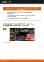 Changing Poly V-Belt BMW 3 SERIES: workshop manual