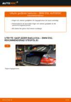 Byta gasfjäder baklucka på BMW E92 – utbytesguide