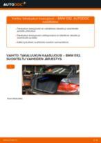 Kuinka vaihtaa takaluukun kaasujousi BMW E92-autoon – vaihto-ohje
