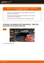 Jak wymienić siłowników klapy bagażnika w BMW E92 - poradnik naprawy
