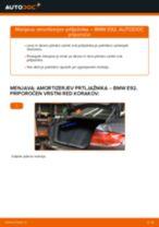 Kako zamenjati avtodel amortizer prtljažnih vrat na avtu BMW E92 – vodnik menjave