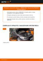 Kako zamenjati avtodel zavorni diski zadaj na avtu BMW E92 – vodnik menjave