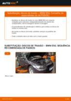 Como mudar discos de travão da parte dianteira em BMW E92 - guia de substituição