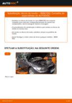 Como mudar discos de travão da parte traseira em BMW E92 - guia de substituição