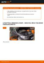Slik bytter du bremseklosser bak på en BMW E92 – veiledning