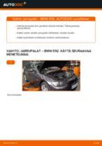 Kuinka vaihtaa jarrupalat taakse BMW E92-autoon – vaihto-ohje