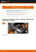 Menjava zadaj in spredaj Zavorne Ploščice BMW naredi sam - navodila pdf na spletu