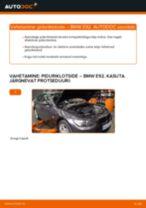 BMW 3 SERIES Piduriklotsid vahetus: tasuta pdf