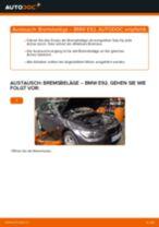 Wechseln von Scheibenbremsbeläge Instruktion PDF für BMW 3 SERIES