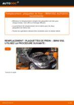 Comment changer : plaquettes de frein arrière sur BMW E92 - Guide de remplacement