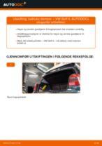 Montering Nummerskiltlys VW GOLF IV (1J1) - steg-for-steg manualer