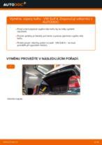 Jak vyměnit vzpery kufru na VW Golf 4 – návod k výměně