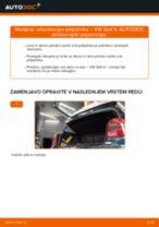 Kako zamenjati avtodel amortizer prtljažnih vrat na avtu VW Golf 4 – vodnik menjave
