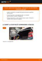Ajtóemelő teleszkóp-csere VW Golf 4 gépkocsin – Útmutató