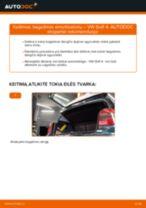 Kaip pakeisti VW Golf 4 bagažinės amortizatorių - keitimo instrukcija