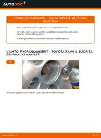 Kuinka vaihtaa Pyöränlaakerit 2.2 D 4WD (ALA30_) Toyota RAV4 III -autoon