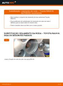 Como realizar a substituição de Rolamento da Roda no 2.2 D 4WD (ALA30_) Toyota RAV4 III