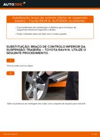 Como realizar a substituição de Braço De Suspensão no 2.2 D 4WD (ALA30_) Toyota RAV4 III