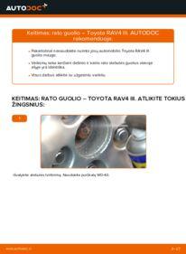 Kaip atlikti keitimą: 2.2 D 4WD (ALA30_) Toyota RAV4 III Rato guolis