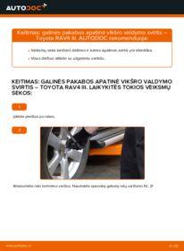 Kaip atlikti keitimą: 2.2 D 4WD (ALA30_) Toyota RAV4 III Vikšro Valdymo Svirtis