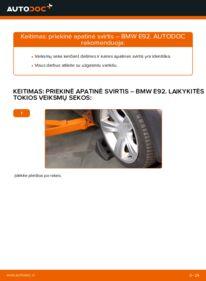 Kaip atlikti keitimą: 335i 3.0 BMW E92 Vikšro Valdymo Svirtis