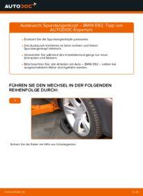 Wie der Wechsel durchführt wird: Spurstangenkopf 335i 3.0 BMW E92 tauschen