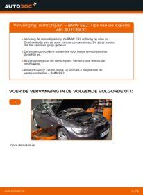 Vervanging uitvoeren: Remschijven BMW 3 SERIES
