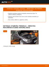 Kaip atlikti keitimą: 335i 3.0 BMW E92 Stabdžių Kaladėlės