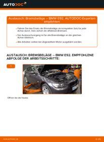 Wie der Wechsel durchführt wird: Bremsbeläge 335i 3.0 BMW E92 tauschen