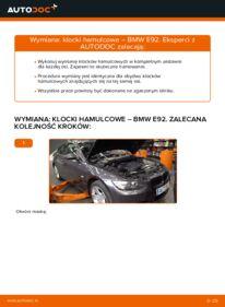 Jak przeprowadzić wymianę: Klocki Hamulcowe w 335i 3.0 BMW E92