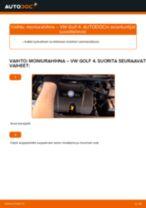 Korjaamokäsikirja tuotteelle VW Golf 1k5