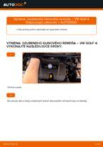 Výmena Klinový rebrovaný remen VW GOLF: online návod