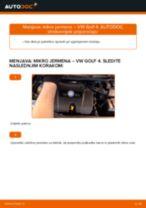 PDF priročnik za zamenjavo: Rebrasti jermen VW Golf IV Hatchback (1J1)
