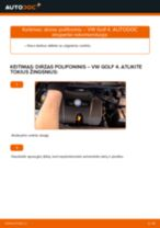 Instrukcijos PDF apie GOLF priežiūrą