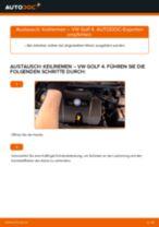 Austauschen von Rippenriemen Anweisung PDF für VW GOLF