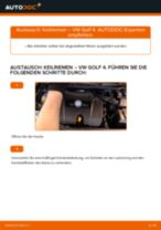 Wie VW Golf 4 Keilriemen wechseln - Anleitung