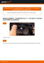 Comment changer : courroie poly V sur VW Golf 4 - Guide de remplacement