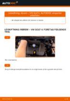 DIY-manual til udskiftning af Kileribberem i VW GOLF