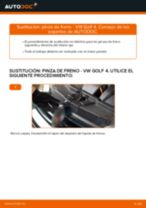 Cómo cambiar: pinza de freno de la parte trasera - VW Golf 4 | Guía de sustitución